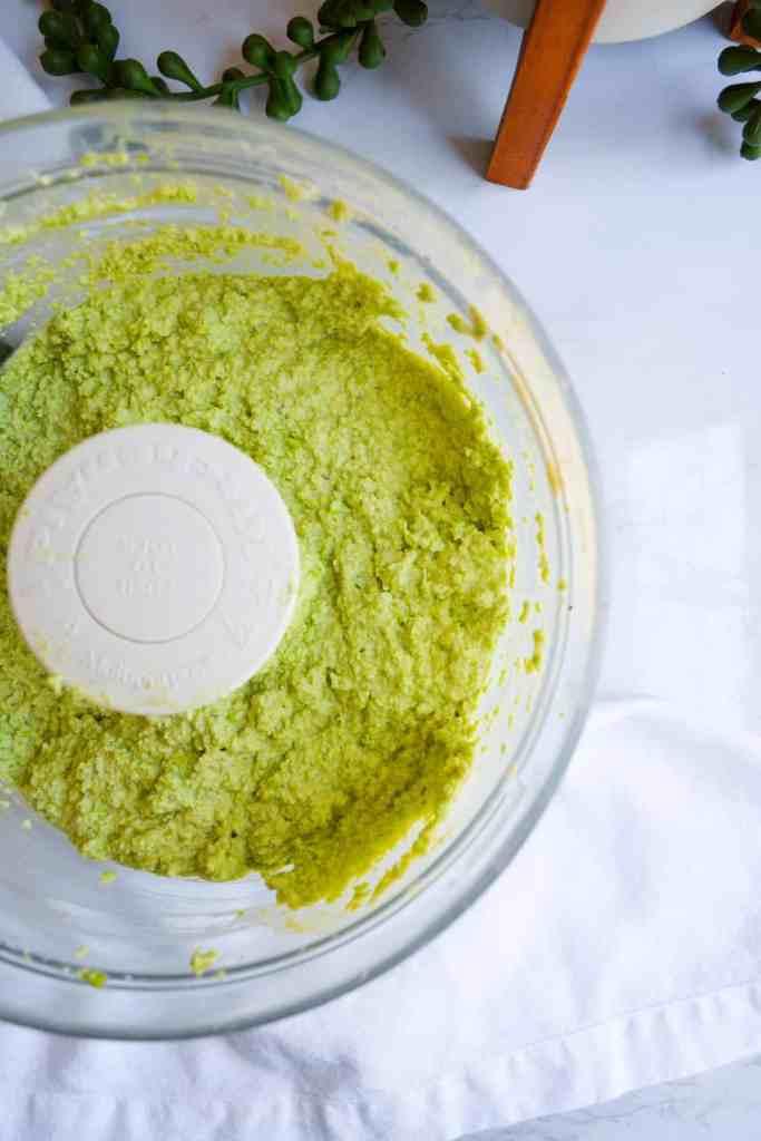 Spicy Jalapeño Edamame Hummus in Food Processor
