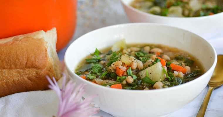 Italian White Bean and Escarole Soup