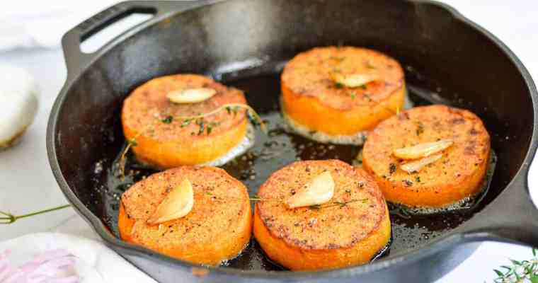Garlic Butter Butternut Squash Steaks– Easy Side Dish