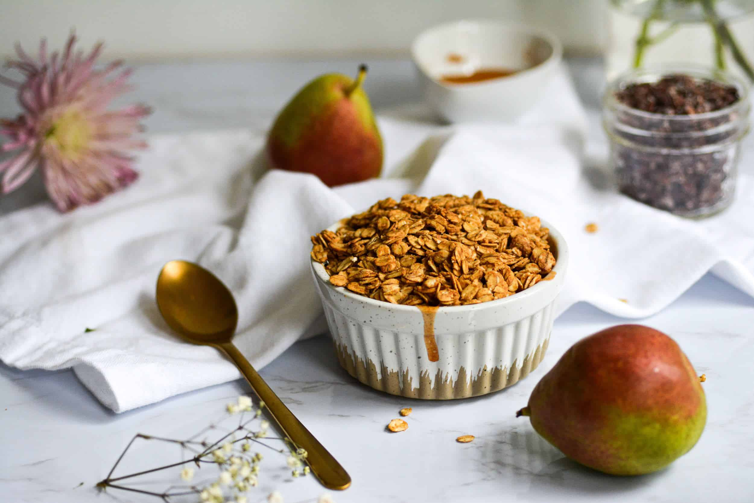 Healthy Pear Crisp for One