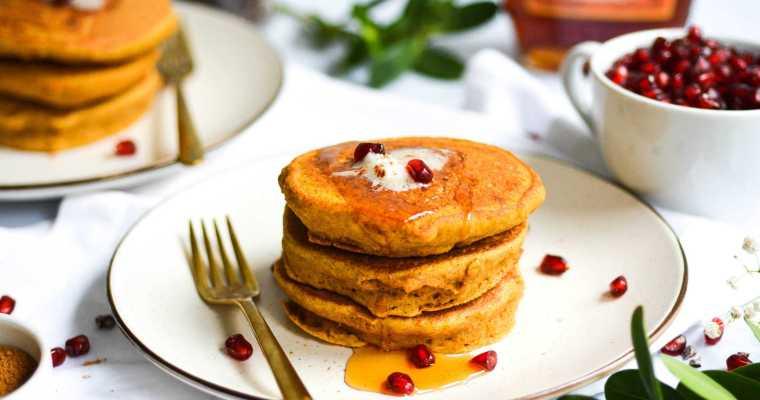 Whole Grain Pumpkin Spice Pancakes