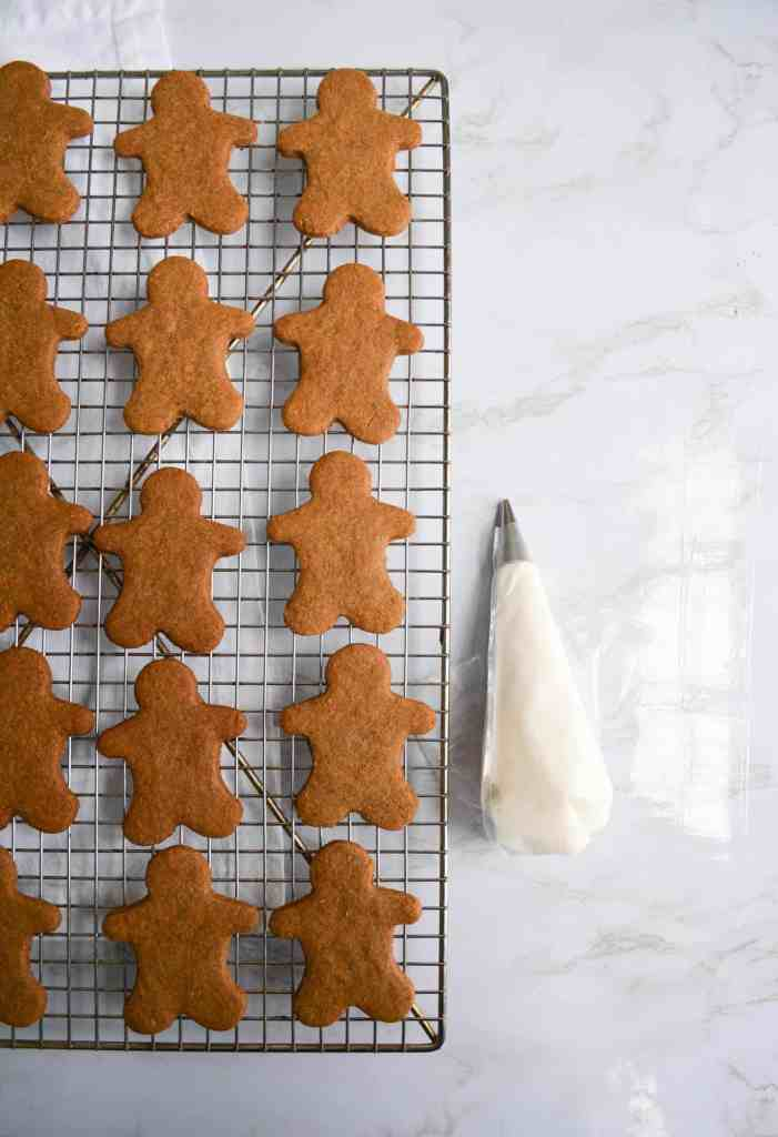 Gingerbread Cookies on a wire cooling rack