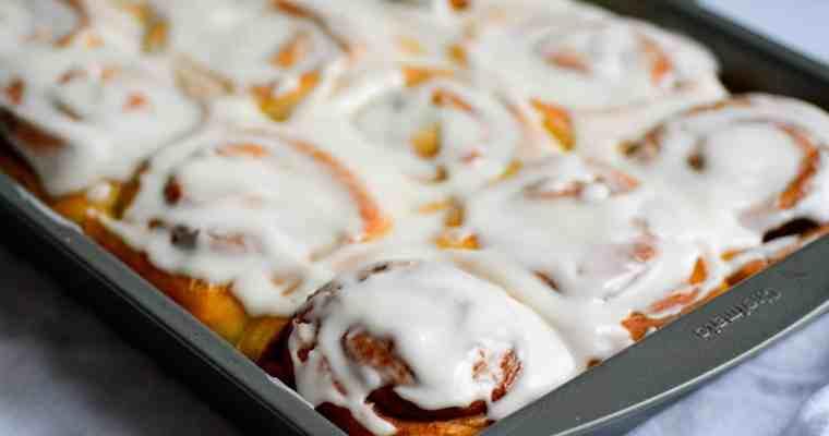 Vegan Cinnamon Rolls with Cream Cheese Frosting