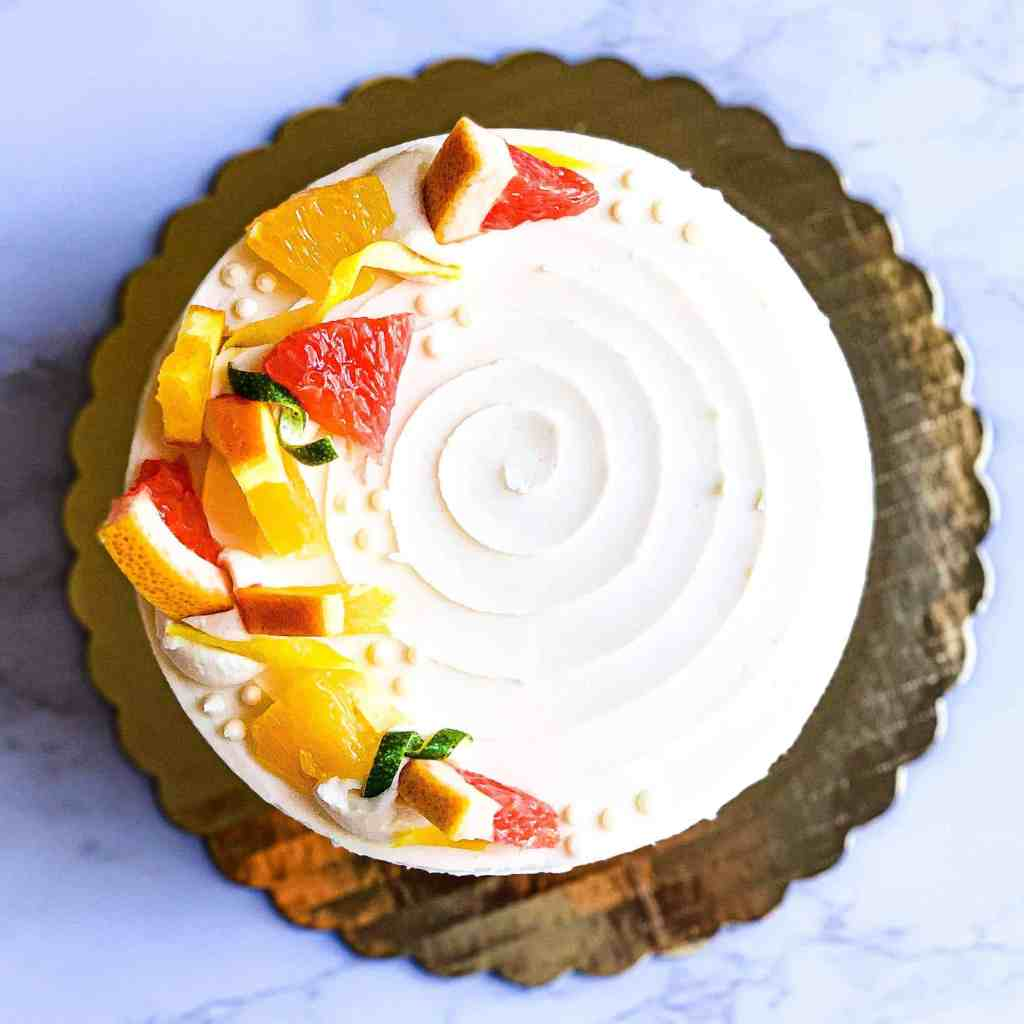 Vanilla cake with citrus by earthly bakers co.