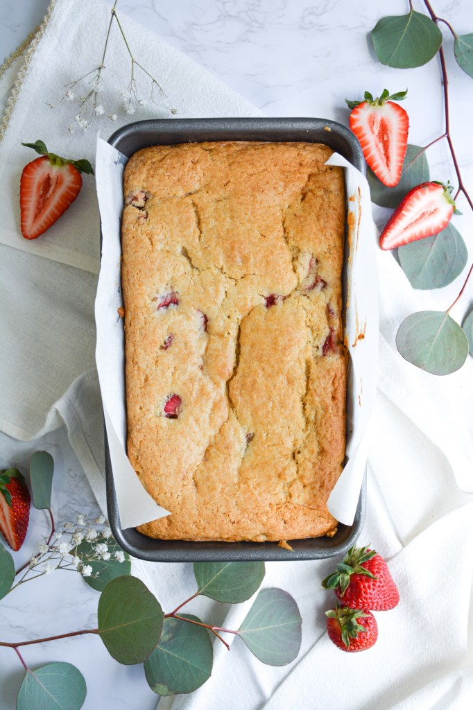 Pound Cake in its loaf pan