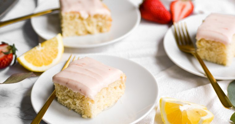 Vegan Lemon Cake with Cream Cheese Frosting