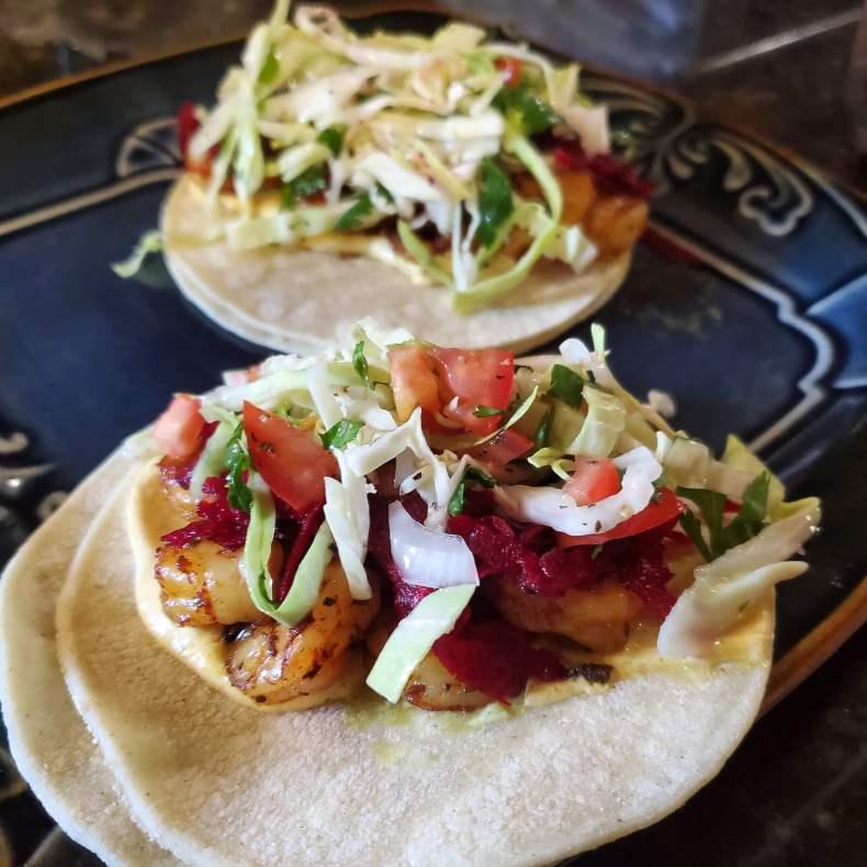 shrimp tacos with a twist