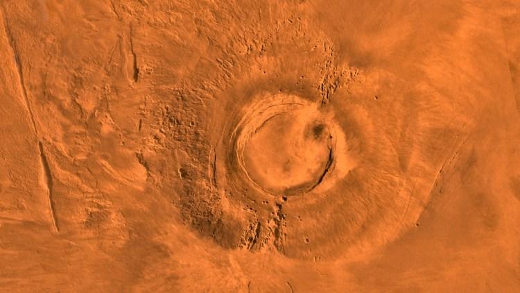 Arsia Mons volcano