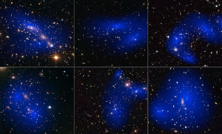 Galaxy Clusters Illustrating the Effects of Dark Matter