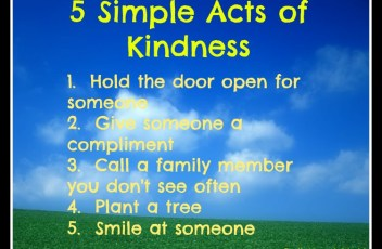 Random Acts Of Kindness, Gratitude & Passing It On
