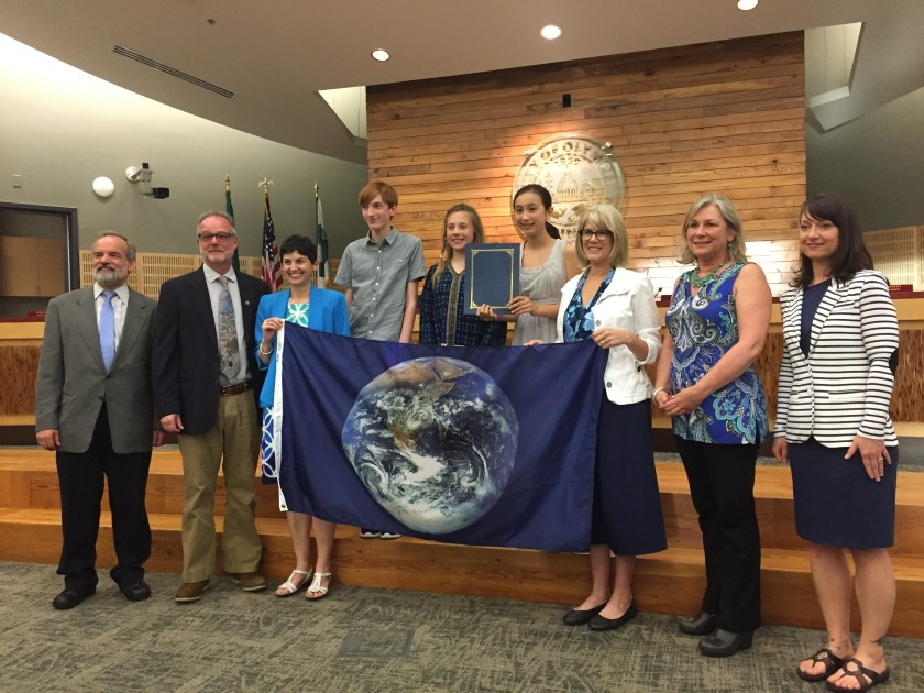 """Earth Month Olympia"" 2016 Proclamation at City Hall."