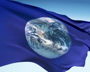 Flying Earth Flag