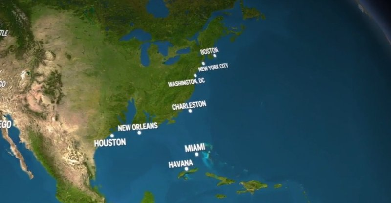 Disturbing animation shows what Earth would look like if all the ice melted