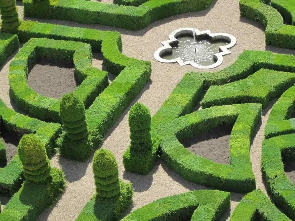 Gardens of Chateau de Villandry, Indre-et-Loire, France