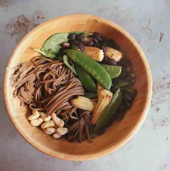 Vegan friendly Buddha Bowl step by step