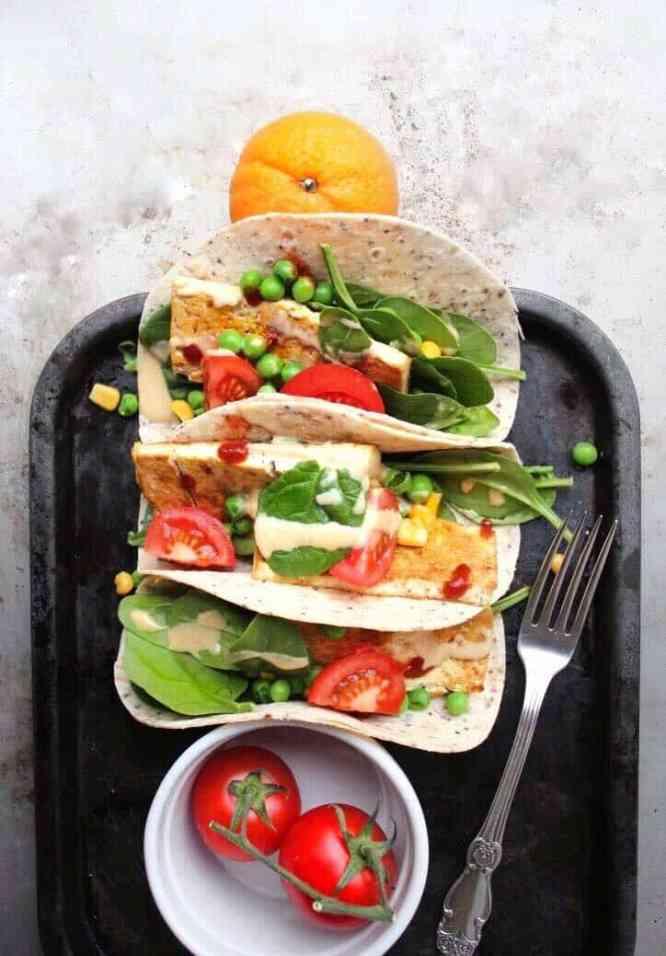 Vegan tofu taco recipe