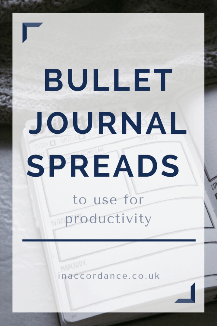 Five bullet journal spreads to use for productivity - inaccordance