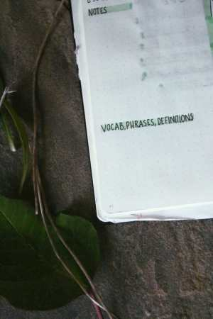 Improve your writing by noting down interesting vocab
