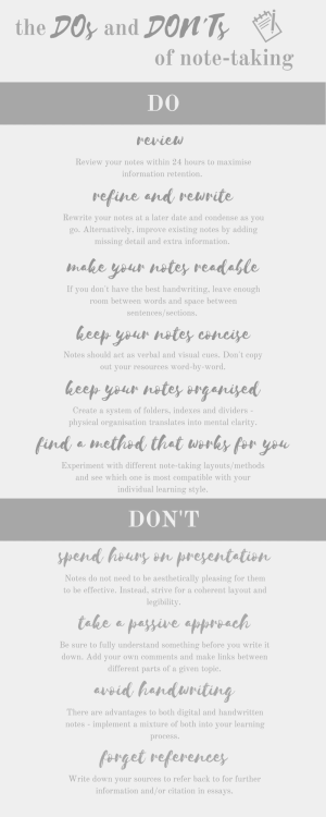 The Do's and Don'ts of Effective and Proactive Note-taking