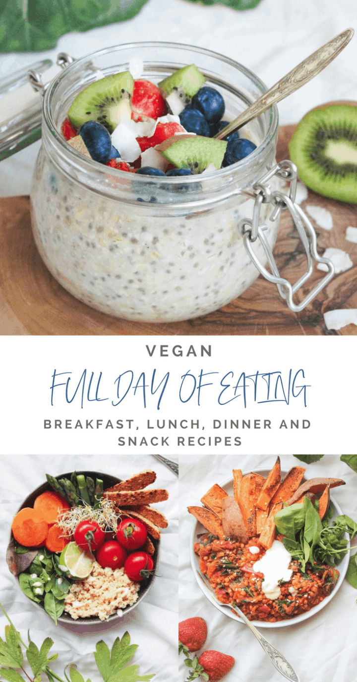 What I eat in a busy day as a vegan - including healthy and nutritious #breakfast, #lunch and #dinner recipes, to help you make healthy eating easier #healthylifestyle #plantbased #fitness #wellness #vegantips #veganlifestyle #