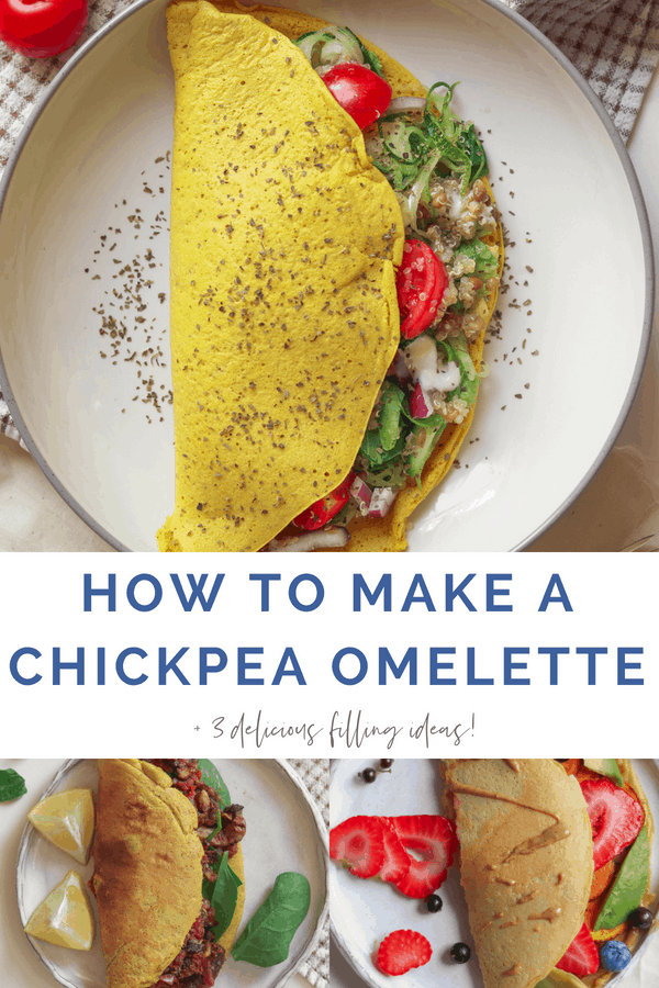 How to make a vegan chickpea omelette for breakfast or brunch, plus three delicious filling ideas to suit anyone!