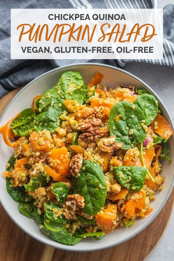 Chickpea quinoa pumpkin salad Pinterest
