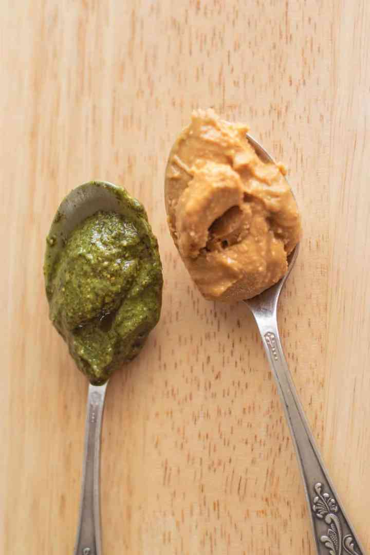 Cashew butter and pumpkin seed butter