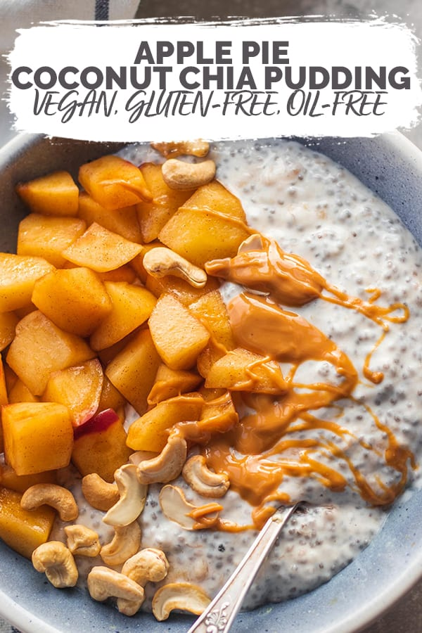 Apple pie coconut chia pudding Pinterest
