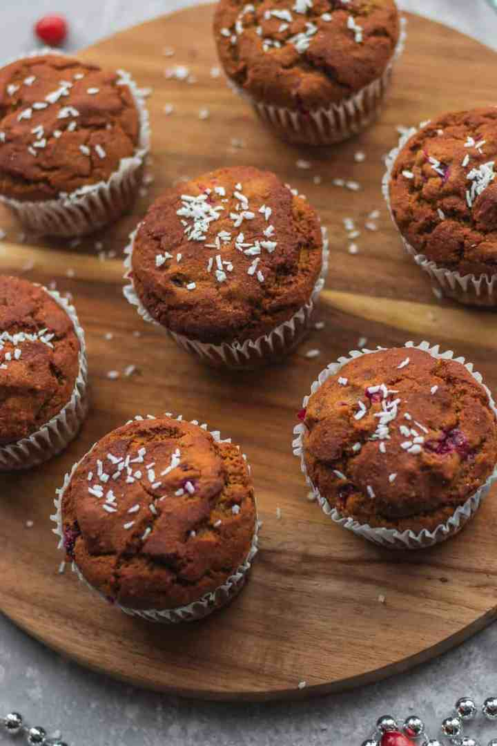 Easy cranberry orange muffins vegan