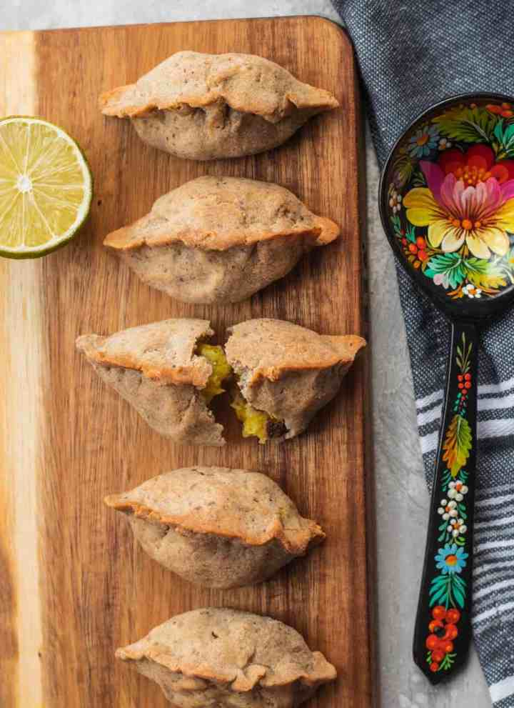 Vegan gluten-free mushroom and potato piroshki recipe