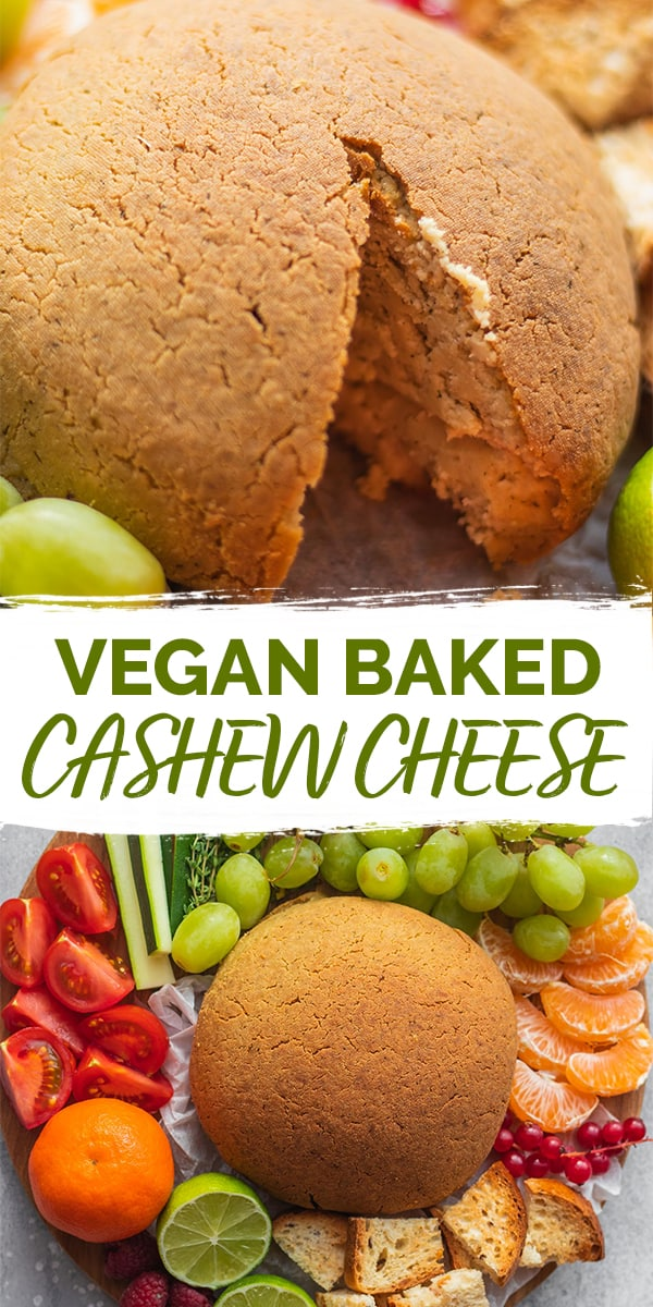 Baked vegan cashew cheese Pinterest