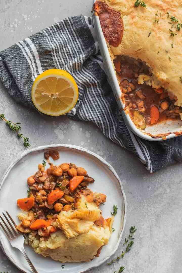 Chickpea vegan Shepherd's pie gluten-free