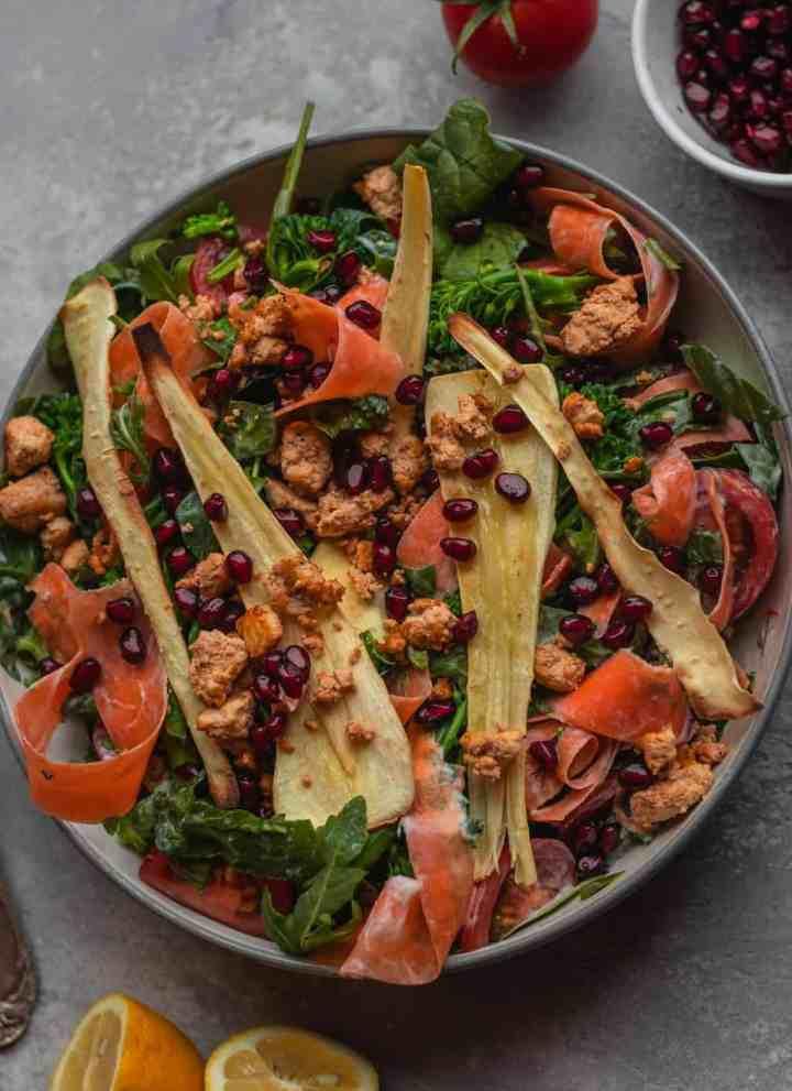 Parsnip And Tofu Winter Salad