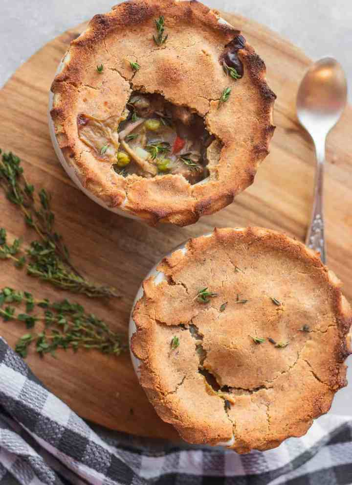 Vegan pot pie with jackfruit gluten-free