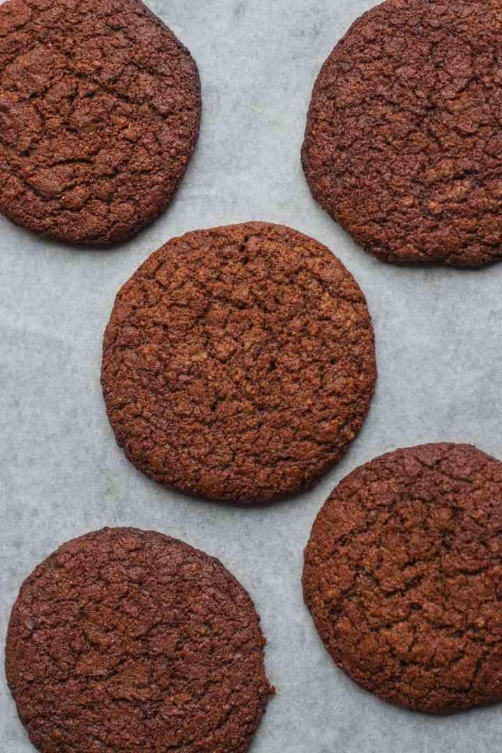 Vegan peanut butter cookies with tahini