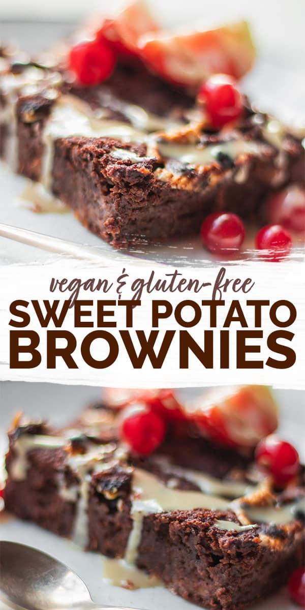 Gluten-free vegan sweet potato brownies