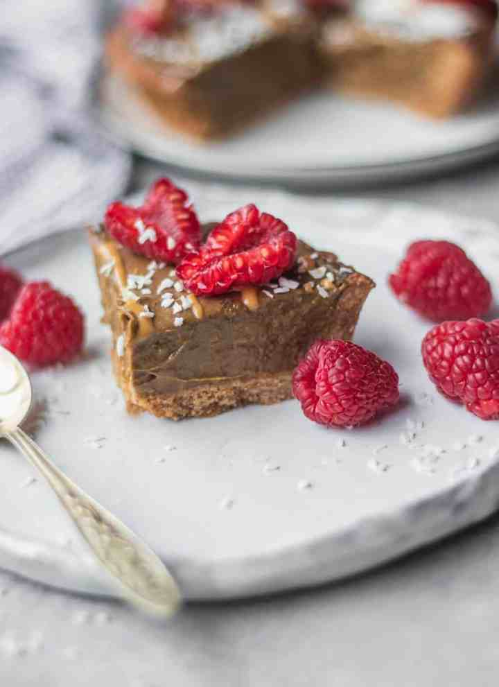 Vegan Chocolate Avocado Mousse Tart