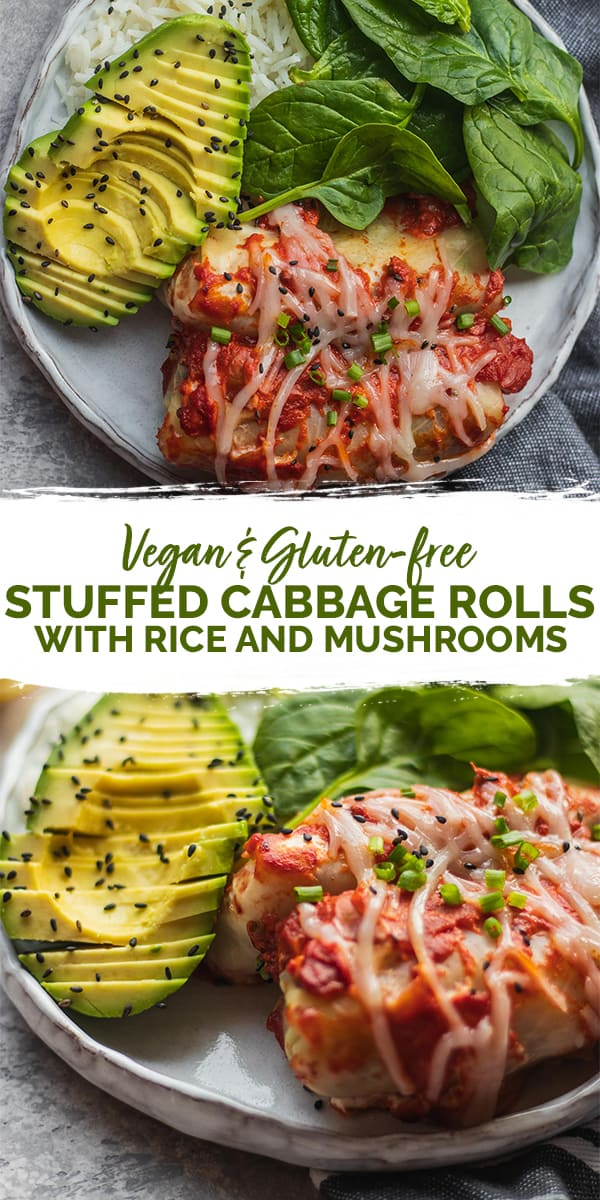 Vegan stuffed cabbage rolls Pinterest