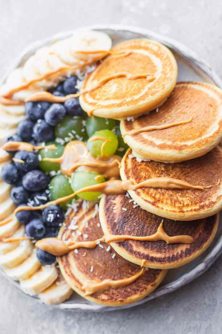 Chickpea flour pancakes vegan gluten-free