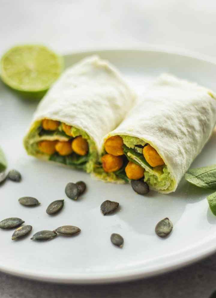 Avocado Wrap With Chickpeas