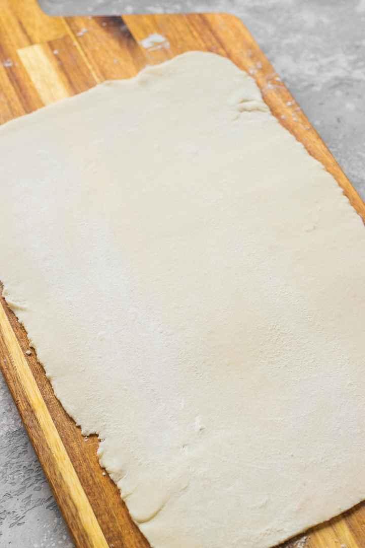 Sheet of gluten-free dough