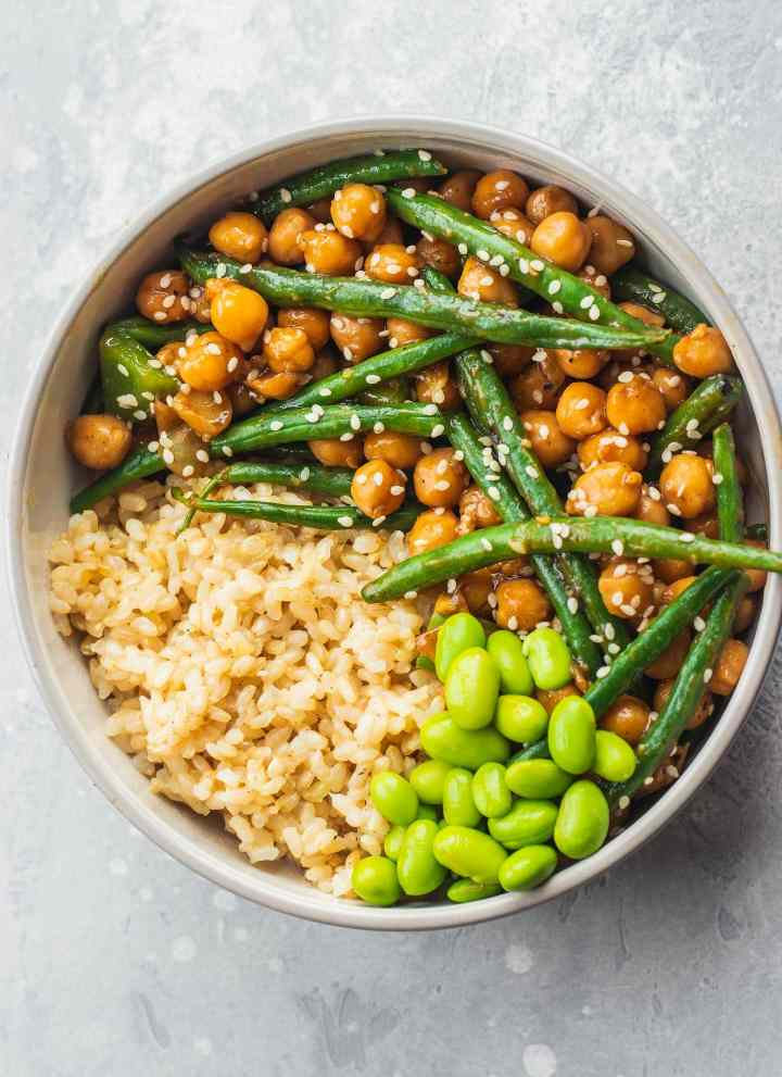 Sweet And Sour Chickpeas And Green Beans