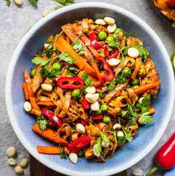 Easy Vegan Pad Thai Gluten-free