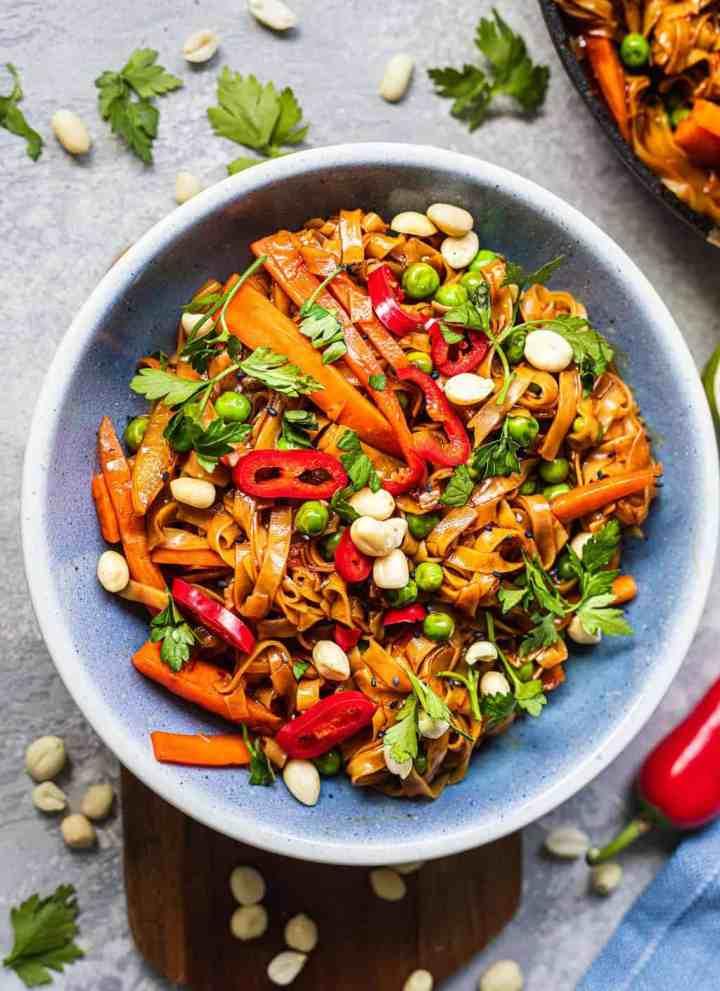 Easy Vegan Pad Thai Gluten-free