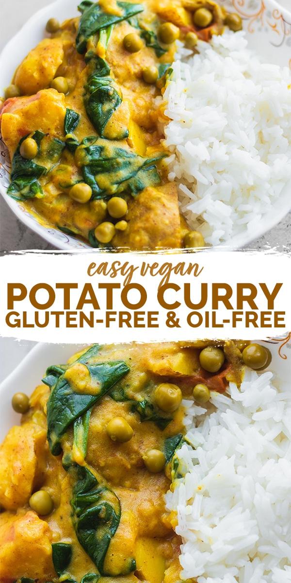Easy vegan potato curry gluten-free Pinterest