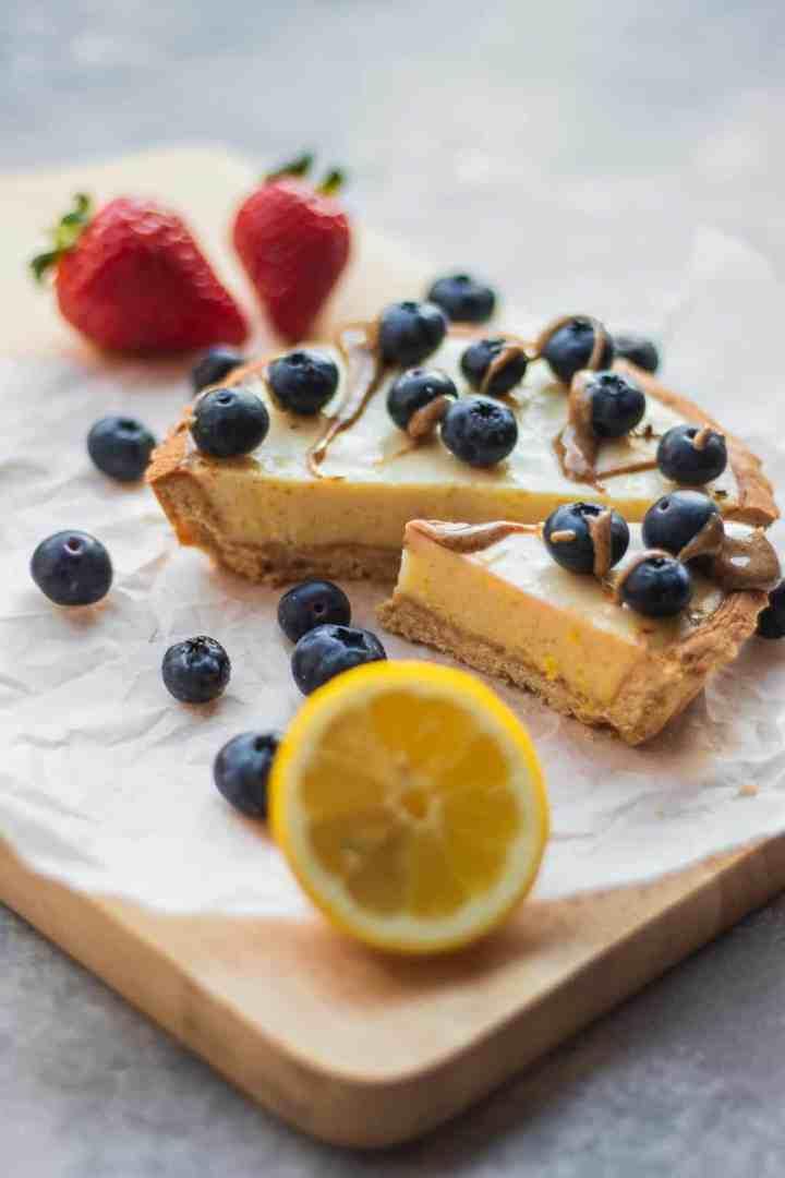 Vegan summer dessert with berries