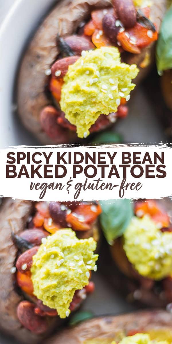 Spicy Kidney Bean Vegan Baked Potatoes Pinterest