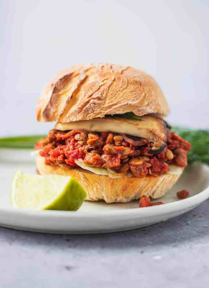 Gluten-free vegan sloppy joes