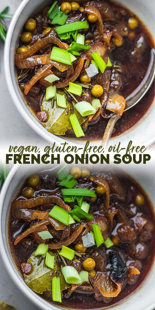 Vegan French onion soup Pinterest