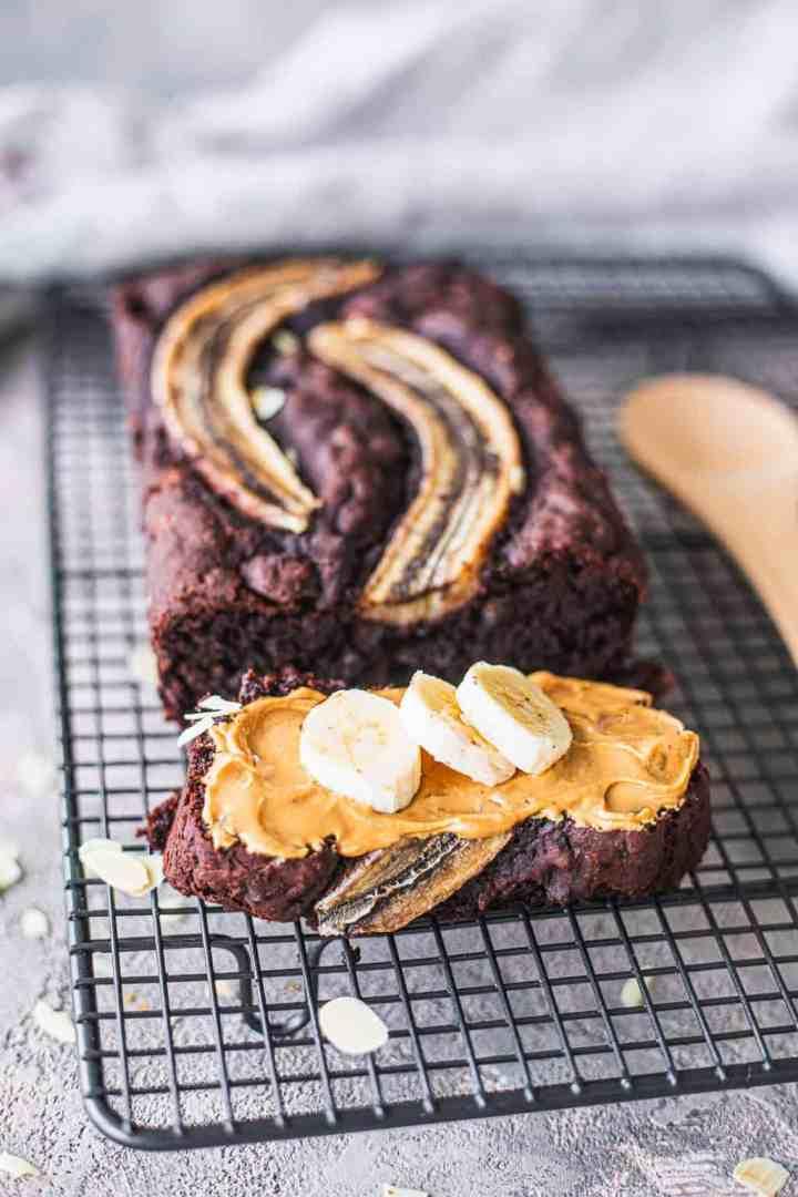 Vegan chocolate banana bread gluten-free